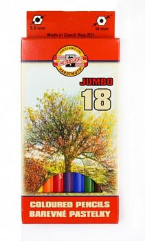 Pastelky Jumbo 18ks