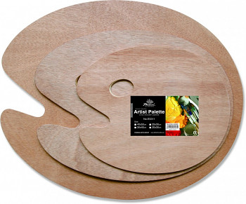 Dřevěná paleta oválná 20x30cm/5mm