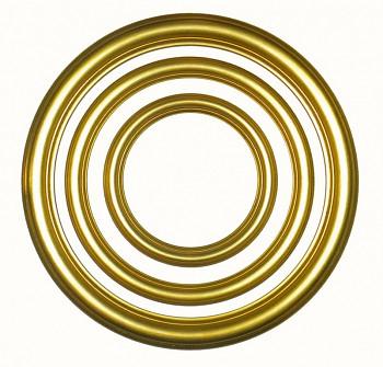 Masivní kulatý rám zlatý – různé velikosti