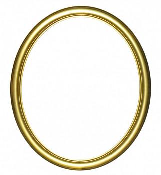 Masivní oválný rám zlatý – různé velikosti