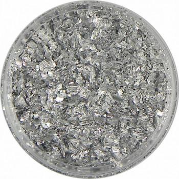 Zlatící vločky stříbrné 4g