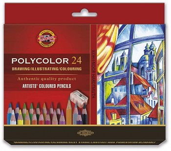 Pastelky Polycolor sada 24ks