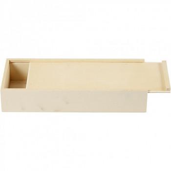 Dřevěná krabička vysouvací 22 x 9 x 4 cm