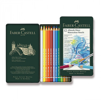 Akvarelové pastelky Faber-Castell 12ks Albrecht Dürer