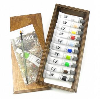 Sada akrylových barev Renesans 10x20ml v dřevěném kufříku
