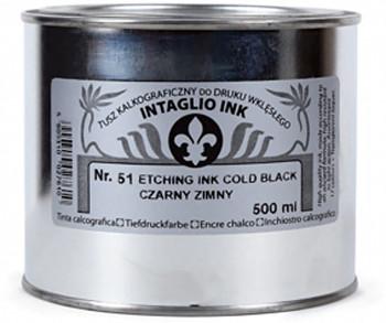 Grafická barva pro hlubotisk 500ml – černé odstíny