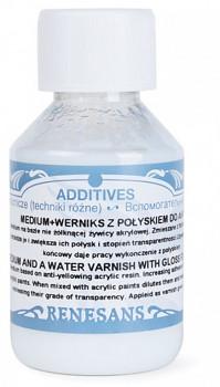 Medium a lesklý lak pro akryl 100ml