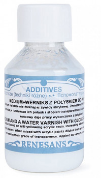 Medium a lesklý lak pro akrylové barvy 1000ml