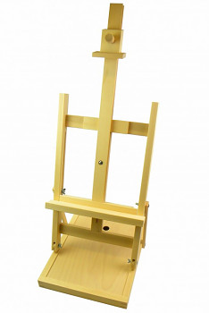 Stolní malířský stojan s přihrádkou