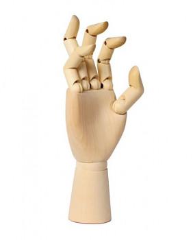 Dřevěný model ruky