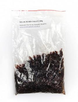 Šelak v šupinkách tmavě rubínový bez vosku 100g