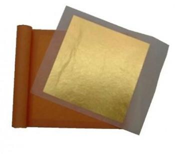 Pravé zlato 22 karátů 8x8cm (25 plátků)
