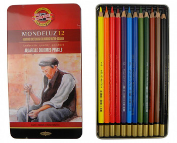 Sada akvarelových pastelek Mondeluz 12ks