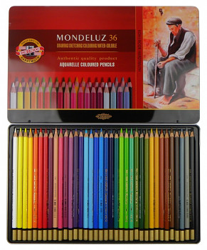 Sada akvarelových pastelek Mondeluz 36ks