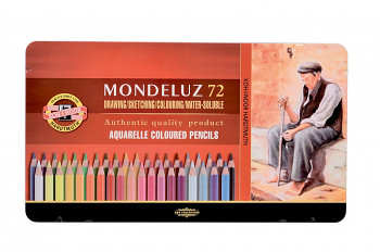 Sada akvarelových pastelek Mondeluz 72ks