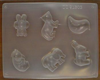 Forma na mýdlo zvířatka 6ks
