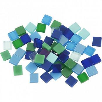 Mozaika zeleno-modrá 0,5x0,5cm 25g