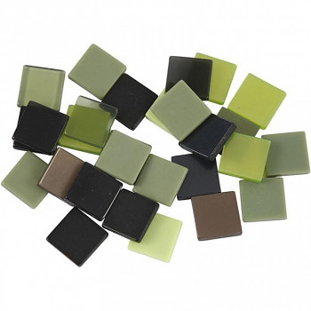 Mozaika zeleno-hnědá 1x1cm 25g
