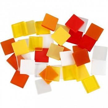 Mozaika žluto-červená 1x1cm 25g