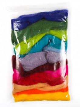 Ovčí vlna barevná 12ks