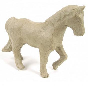 Kůň z papírové hmoty 8x12cm