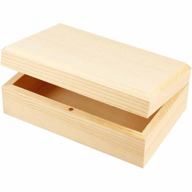 75502d980 Krabička s víkem na šperky dřevěná - výtvarné potřeby Novák