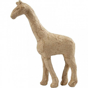 Žirafa z papírové hmoty 16cm