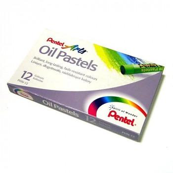 Olejové pastely kulaté Pentel 12ks