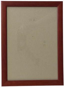 Hotový rám A2, sklo - hnědý