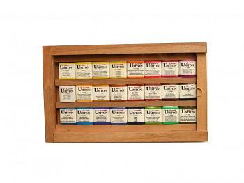Akvarelová sada Umton 24ks v dřevěné kazetě