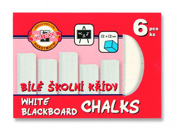 Křídy školní bílé 6ks