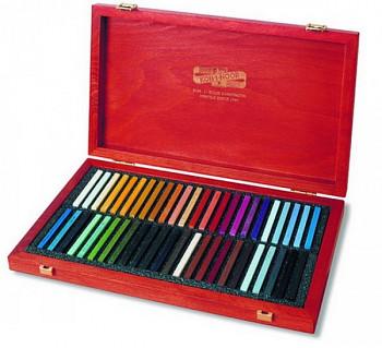 Luxusní sada tvrdých pastelů 48ks v dřevěné kazetě