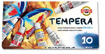 Sada temperových barev v kartonu - 10x16ml