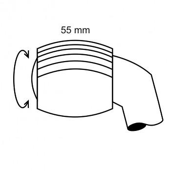 Ruleta velká 35 - čárkovaný rastr 0,4 - průměr 7mm
