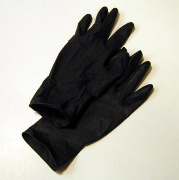 Rukavice latexové černé - vel. M