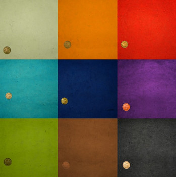 Ruční papír 50x75cm – základní barvy